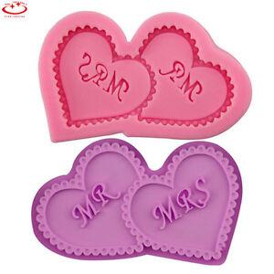 MR-amp-MRS-Wedding-Love-Heart-Silicone-Mold-Cake-Decorating-Chocolate-Baking-Mold
