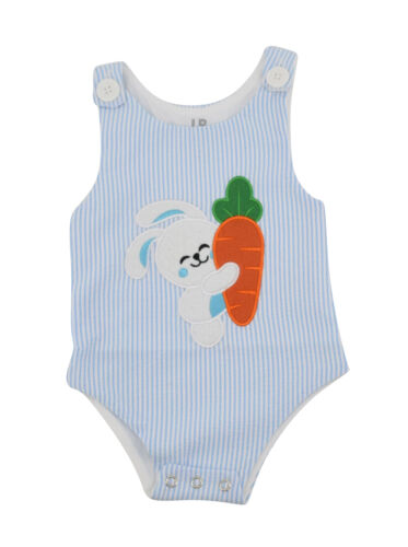 Boys Easter Bunny Jon Jon Outfit Infant Toddler Kids Clothes