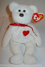 """TY BEANIE BABIES """"VALENTINO BEAR"""" W/DATE & TAG ERRORS, SWEET, PRE-LOVED W/TAGS!"""