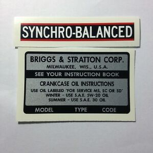 Briggs-amp-Stratton-Model-Type-amp-Code-amp-Syncho-Balanced-Decals-for-14-15-amp-16-hp