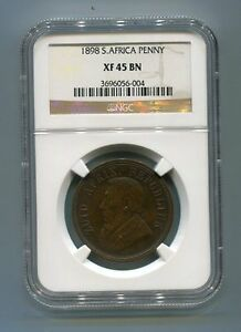 South-Africa-ZAR-NGC-Certified-1898-Kruger-Penny-XF-45-BN-Coin
