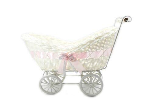 Groß Baby Pram Wäschekorb Weidenkorb Korb Babyparty Party Baby Geschenk
