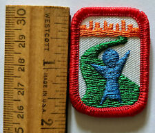 1987 CREATIVE WRITING PURPLE GIRL SCOUT INTEREST PROJECT PATCH