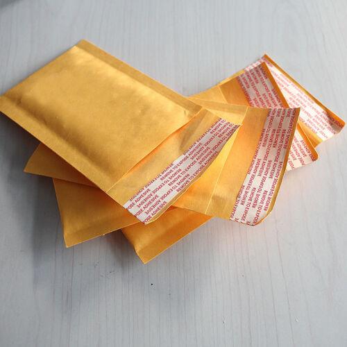 10X 90*130 40mm Kraft Bubble Bag Gepolsterte Umschläge Versandtaschen Gelb AB