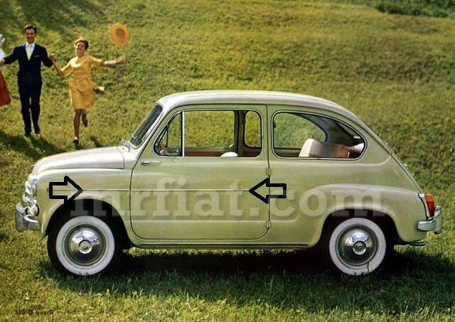 Fiat 600 Upper Door Trim Set New