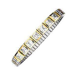 "MAGNETIX Armband Flexi 2679 ""Square Stone Bicolor""  Magnetschmuck"