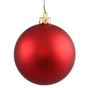 Vickerman 6 Red Christmas Matte Ball Ornaments Set Of Two Brand New Ebay