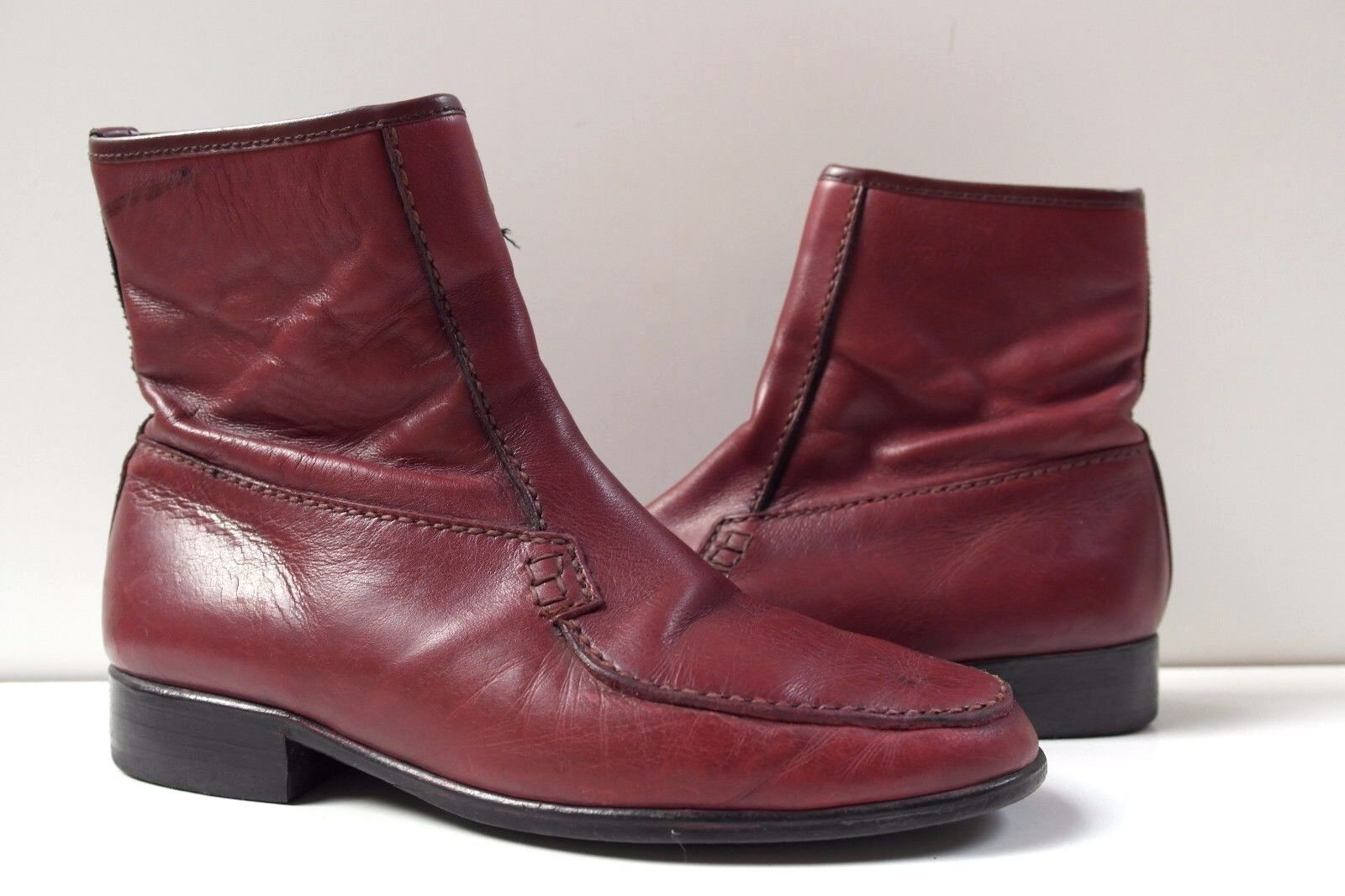 TRUE VINTAGE Stiefelette Herren Schuhe Stiefel Ankle Stiefel UK 7 bordeaux Booties