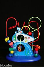 Baby Genius Wire Bead Maze Submarine Under the Sea Wood Base RARE
