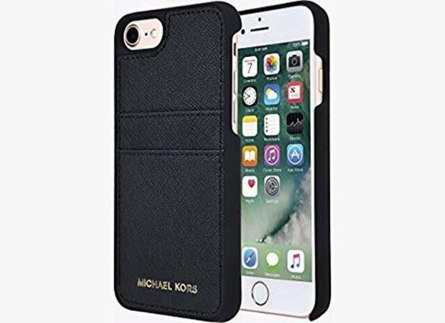 info for 4b7e0 b71f6 Michael Kors Saffiano Leather Folio Case iPhone 7 Black