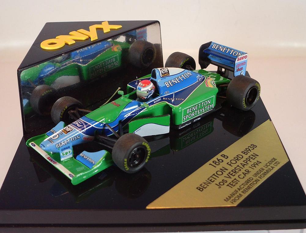 Onyx 1 43 43 43 Formel 1 Benetton Ford B 193B Test Car 1994 Jos Verstappen OVP b52396