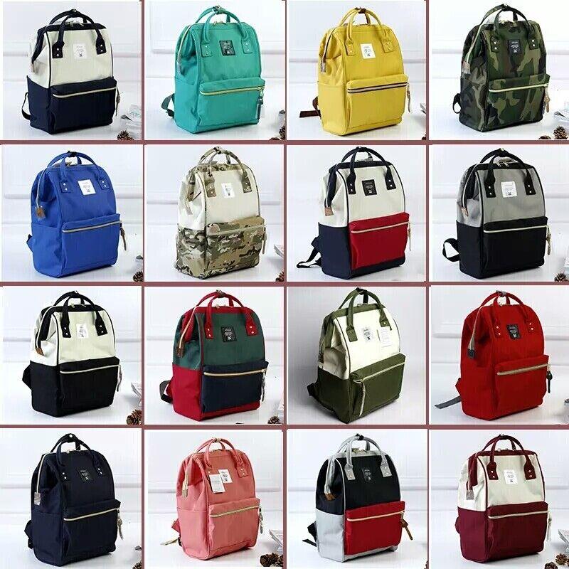 Japan Anello Original Backpack Rucksack Unisex Canvas School