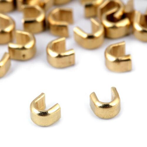 Nickel Gold Stopper Endstück 10-25 Endstücke für Endlos Reißverschlüsse 5mm