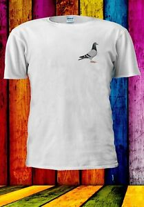 Pigeon-Disegno-Animale-Pocket-Bird-Uomini-Donne-Unisex-T-shirt-979