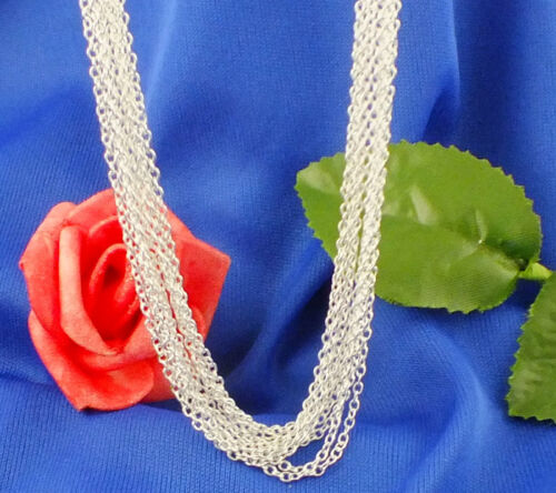 """5pcs//1pc 925 Silver Plated 1.4mm Women Men Rolo /""""O/"""" Chain Necklace 16-30 inch"""
