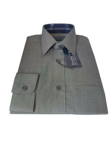 MEN/'S END ON END FABRIC SHIRTS IN LONG AND SHORT SLEEVE 5224//2235
