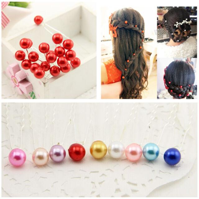 20pcs Fashion Wedding Bridal Bridemaid Pearl Crystal Hair Pins Clips Headwear