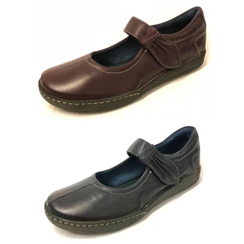 Moshulu Moshulu Moshulu Damas Ajuste Ancho Cuero Mary Janes Acolchado Comodidad Zapatos Ligero Stra  marcas en línea venta barata