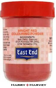 12 X 25g East End Bright Red Food Colouring Colour Powder Cooking