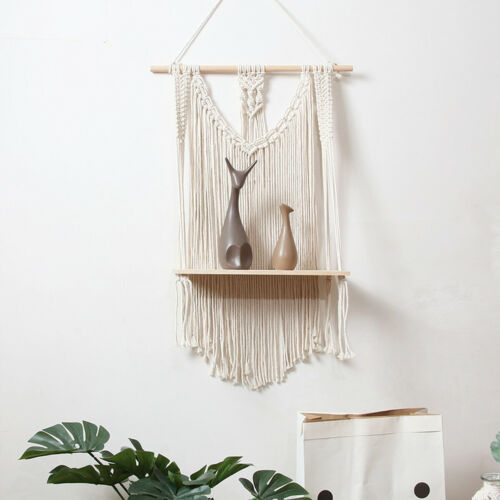 Woven Macrame Plant Hanger Holder Tapestries Wall Hanging Art Home Storage US