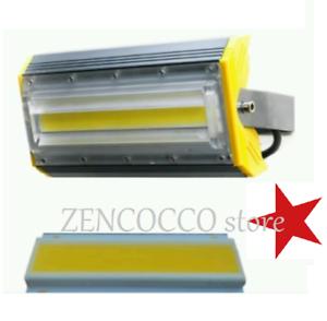 FARETTO PROIETTORE LED COB LINEARE 50 Watt ip66 luce bianca fredda//calda 100lm//w