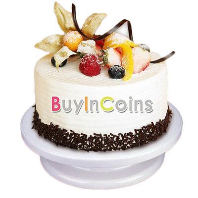 "11"" Rotating Revolving Cake Turntable Decorating Stand Platform Fondant SYUK"