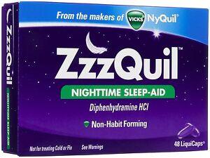 Best Sleep Aid 2020 ZzzQuil Nighttime Sleep Aid 48ct  Expiration Date 07 2020