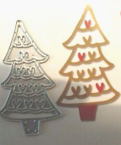 Sizzix-Die-Cutter-CHRISTMAS-TREE-HEARTS-Thinlits-fits-Big-Shot-Cuttlebug