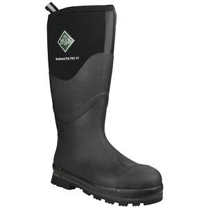 Collection Ici Muck Boots Workmaster Pro Homme Sécurité Wellington Bottes Haute étanche Acier Orteil-afficher Le Titre D'origine RéSistance Au Froissement
