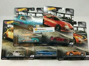 5-Car-Set-2019-Hot-Wheels-BOULEVARD-Car-Culture-Case-M-IN-STOCK