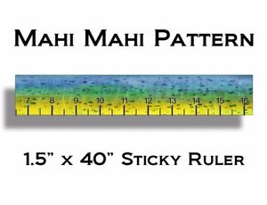 40 inch mahi measuring tape sticker fishing decal fish for Fish ruler sticker