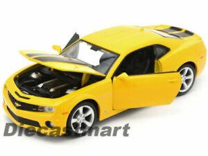 Chevrolet-Camaro-SS-RS-1-24-escala-Diecast-Modelo-Die-Cast-Metal-Coche-de-Juguete-Amarillo