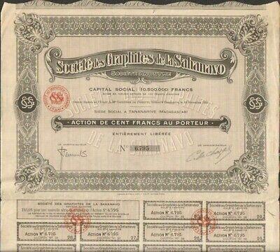 U Société Indochinoise des Graphites INDOCHINE
