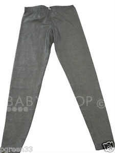 nina-Tammy-Leggings-negro-PLATA-resplandeciente-purpurina-8A-15-anos-moderno