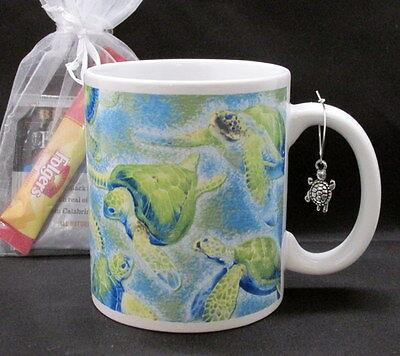 Turtles of Hawaii blue green ocean coffee mug cup