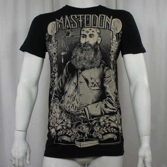 Authentic MASTODON Beard Logo Slim Fit T-Shirt S M L XL XXL NEW