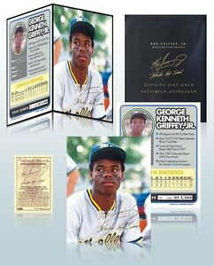 KEN-GRIFFEY-JR-24K-GOLD-SIGNATURE-8x10-PHOTO-with-FOLIO-DISPLAY-LOW-PRICE