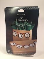 Hallmark Christmas Gift Trim Letter Discs With Ribbon - Make Your Own Greeting