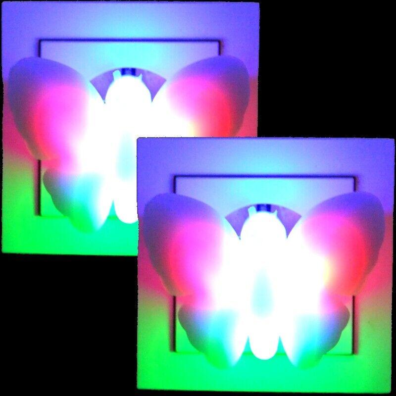 2x LED Nachtlicht Nachtlampe Orientierungslicht Nachtbeleuchtung
