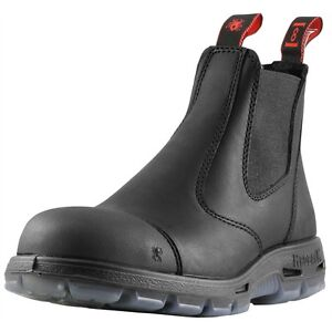 ca0447b401c Details about NEW Redback Boots Easy Escape Steel Safety Toe Scuff Cap  Black Slip-on Mens NIB