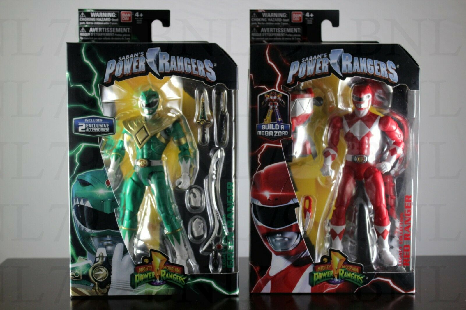LOT 2 RED & GREEN RANGER Legacy 6.5  Power Rangers MMPR Collection Figure Wave 1