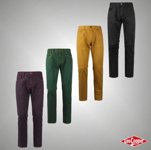 Da Uomo Lee Cooper pantaloni chino in denim casual cotone Bottoms