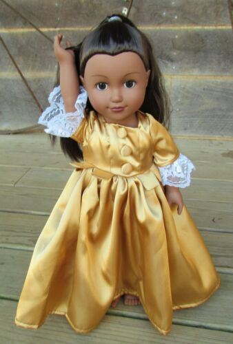"""Hamilton Schuyler Sisters 18/"""" Doll Costume ~Eliza Angelica or Peggy~ 1 Doll Set"""