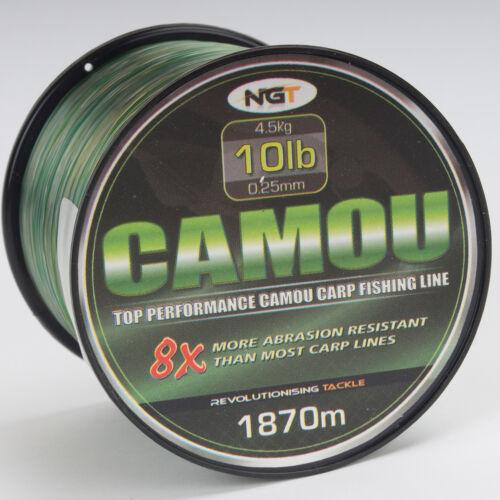 1870m Camou karpfenschnur 0,25 10lb carp-cuerda Feeder-line mono monofilamento boilie