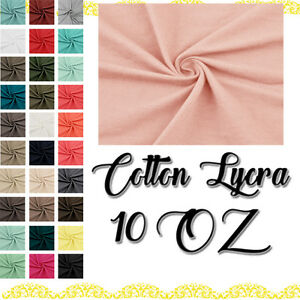 beb74a424e5 Solid Cotton Lycra Jersey Knit Fabric Combed 10 oz Cotton Stretch ...