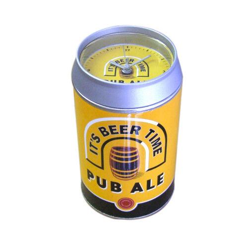 Bière Lager peut Alarme avec cadran à Une Extrémité Choix de Designs *** Nouveau ***