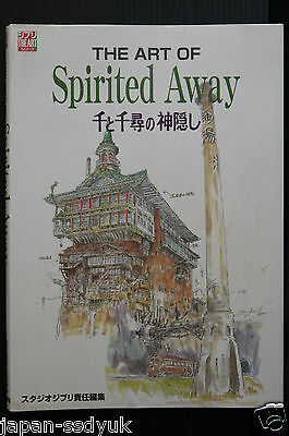 JAPAN Book Spirited away The art of Studio Ghibli artbook OOP