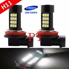 H11 Samsung LED 42-SMD Super White 6000K Headlight Xenon Light Bulbs Low Beam