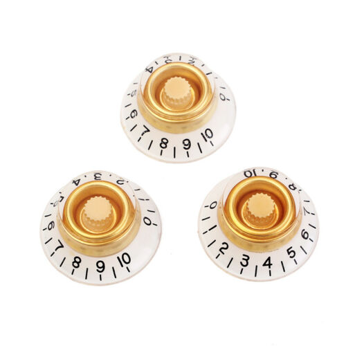 Les Paul guitar knobs bell //Top hat in cream and white tone and volume 3 strat
