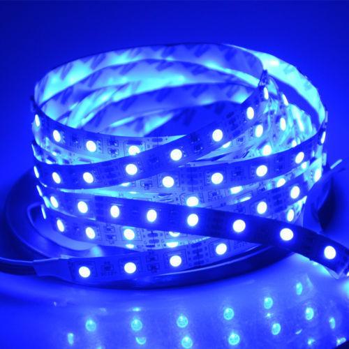 1-5M SMD 5050 RGB//White Waterproof 300 LEDS Flexible Tape Strip Light DC12V Lamp
